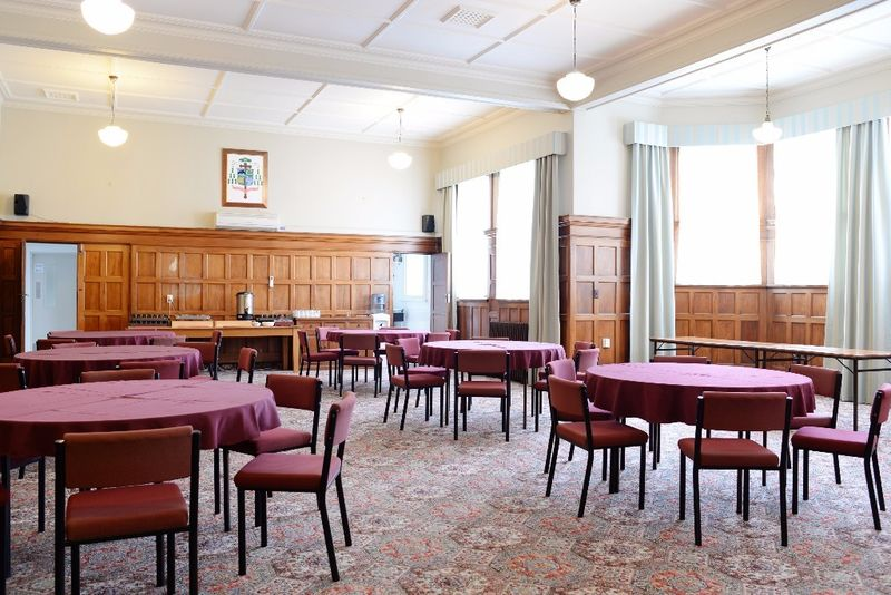 Catering and dining served in the Cluny Dining Hall